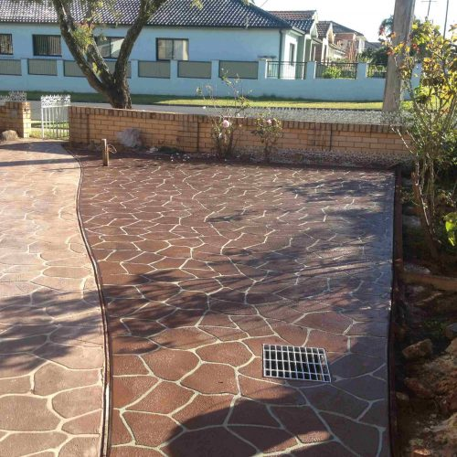 Stencil two toned driveway
