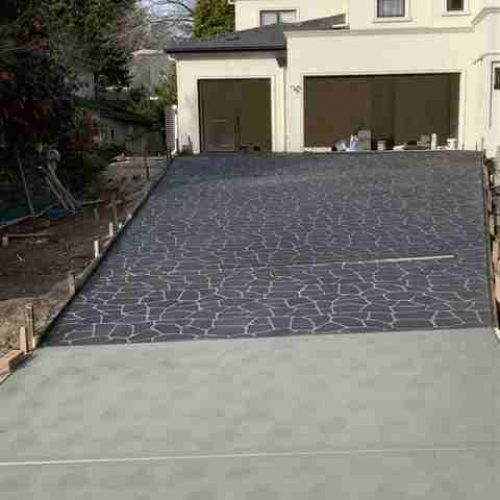 Two Toned Stencil and Plain Driveway, St. Ives NSW